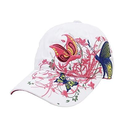 Gespout Gorras Sombreros Béisbol Paño para Niñas Mujer Vaquero Protección  Solar Viaje Hat Playa Verano Pescar 465ae24f7d8