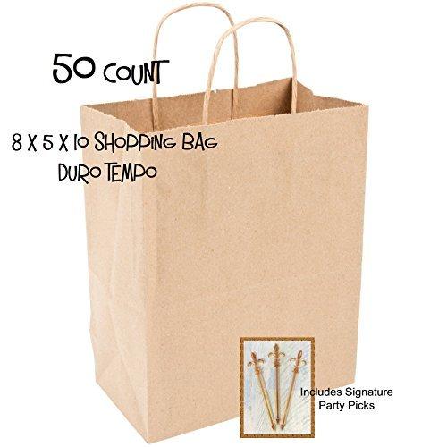 DURO - 50 Bolsas de Papel para la Compra con Asas de Cuerda ...