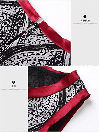 Women`s Dress Dresses cotyledon Sleeveless Printed Beach Con Body PwpUZdxUqa