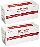 (2 Boxes) Disposable Obsterical Artifical Insemination Gloves, 4 Milligram 100 Gloves per box