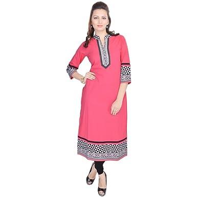 a358bcb59ac Vihaan Impex Indian Kurtis for Women Kurti Kurtas for Women Bust Size 36 Inches  Pink Kurti