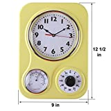 Lily's Home Retro Kitchen Wall Clock, with a