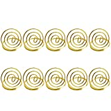 Vosarea 20pcs Gold Table Number Holders Wedding Place Card Holders Note Memo Photo