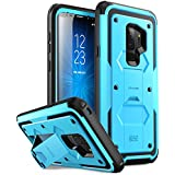 Galaxy S9+ Plus Case, i-Blason [Armorbox] [Full body] [Heavy Duty Protection ] [Kickstand] Shock Reduction / Bumper Case WITHOUT Screen Protector for Samsung Galaxy S9+ Plus (2018) (Blue)