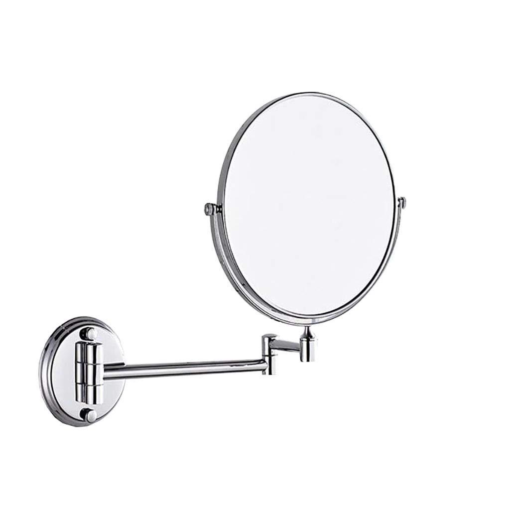 HHAOH Makeup Spiegel Wandhalterung - Vanity Mirrors 3X Vergrößerung, Badezimmer Beauty Mirror, rotierenden doppelseitigen Spiegel, Rasierspiegel,Weiß_8inch