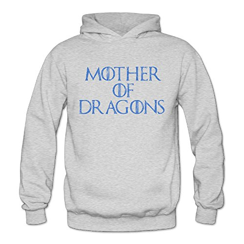 Classic Slogan Mother Of Dragons Classic Women's Hooded Hoodies Ash L