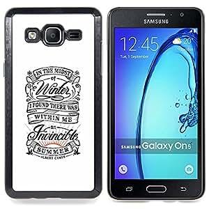 /Skull Market/ - Vintage Retro White Summer Inspiring For Samsung Galaxy On5 SM-G550FY G550 - Mano cubierta de la caja pintada de encargo de lujo -