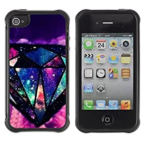 WAWU Rugged Armor Slim Protection Case Cover Shell -- diamond colorful art painting black -- Apple iphone 5c
