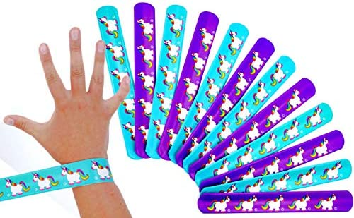 German Trendseller® - 12 x pulseras de palmada unicornio ...