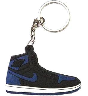 455f9a3eabe Air Jordan 1 I Hi OG Black Royal Blue Sneakers Shoes Keychain Keyring  Keyloop