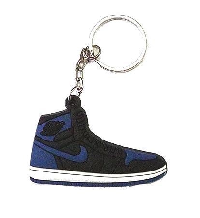 Air Jordan 1I Hi OG BlackRoyal Blue Sneakers Shoes Keychain Keyring Keyloop