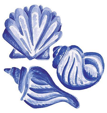 Blue Wallpaper Cut Out (Wallies 12119 Blue Shells Wallpaper Cutout)