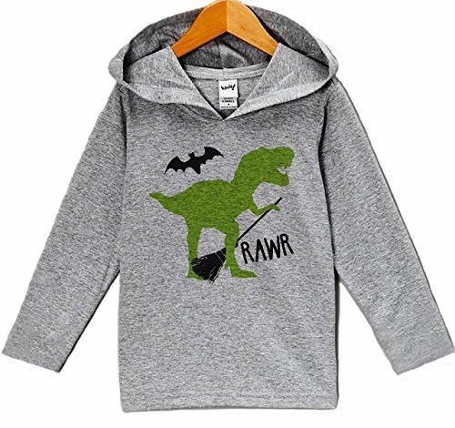 7 ate 9 Apparel Dinosaur Halloween Hoodie 4T Grey ()