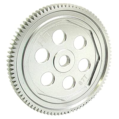Hot Racing SCT887H 87t 48p Hard Anodized Aluminum Spur Gear Asc: Toys & Games