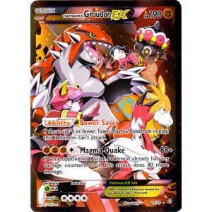 Pokemon   Team Magmas Groudon Ex  15 34    Double Crisis   Holo