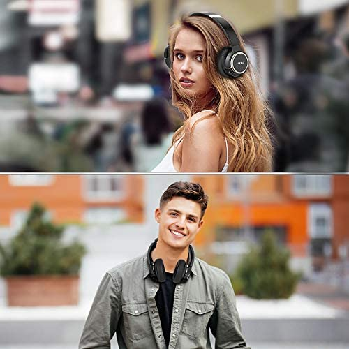 Active Noise Cancelling Headphones, AIKELA Wireless Bluetooth Over Ear Headset with Deep Bass Hi-Fi Sound Soft Earbuds 30H Playtime Fast Charging ANC Headphone for Online Class Travel Home Office 51ui7Sn96HL