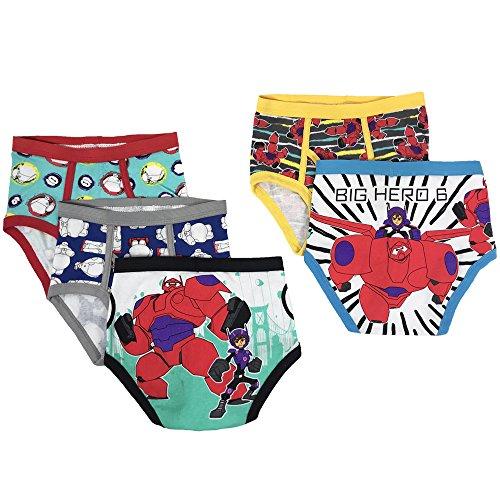 Disney Boys' Little 5-Pack Big Hero 6 Brief Underwear, Multi, 4 -