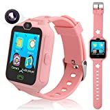 PHRtoy Smart Phone Watch kids, Unlocked Cell Phone Watch [Anti-lost SOS] [Camera] [Alarm] [Games] Smart Watch Nice Birthday Kids, Boys Girls (pink)
