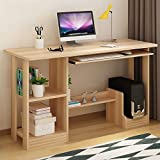 Desktop Computer Desk Assembly Learning Table Have Drawer Bookcase Modern Simplicity Workbench ( Color : B , Size : 2# )