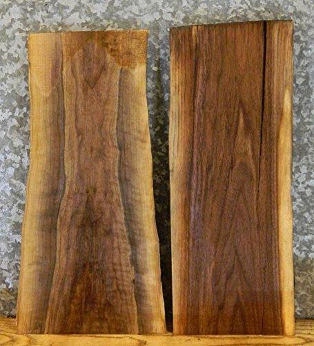 2-Rustic Live Edge Black Walnut Wall/Book Shelf/Taxidermy Base Slabs T: 1 1/8'', W: 12 1/8'', L: 24 1/8'' - 7864,7879 by The Lumber Shack