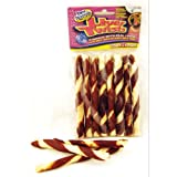 Wrapped Rawhide Twist Dog Treat Quantity: 8-pack, Flavor: Liver, My Pet Supplies
