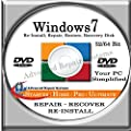 WINDOWS 7 SYSTEM REPAIR & RE-INSTALL 32 Bit & 64 Bit BOOT DISK: Repair & Re-install any version of Windows 7 Basic, Home, Premium and Ultimate (Repair-Restore-Reinstall)