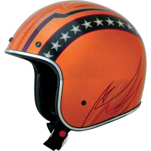 AFX FX-76 Lines Open Face Helmet Orange XXL/XX-Large