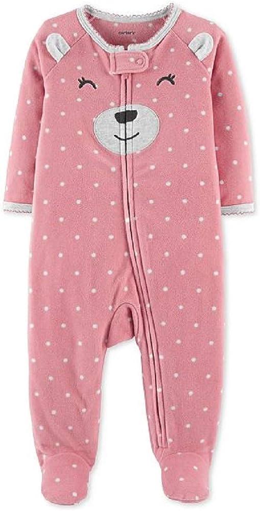 6 Months Carters Baby Girls Bear Fleece Sleep and Play