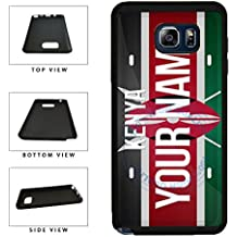 BleuReign(TM) Personalized Custom Name License Kenya Country Flag Plate TPU RUBBER SILICONE Phone Case Back Cover For Samsung Galaxy Note 8