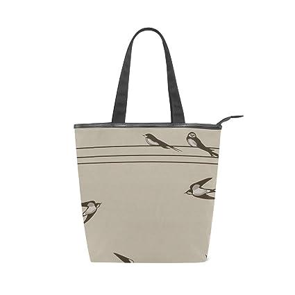 7c4d04d98394e Image Unavailable. Image not available for. Color  Women s Vintage Swallow  Bird Canvas Tote Bag Handbag Shoulder ...