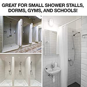 small shower stall curtain liner