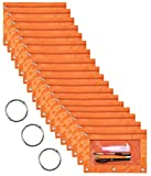 WODISON 18-Packs 3 Ring Pencil Pouch with Clear Window School Classroom Binder Pocket Case Office Stationery Bag Orange