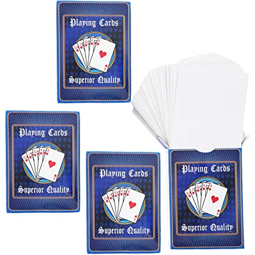 Printable Deck Of Cards (Blue Panda Blank DIY Playing Cards (4)
