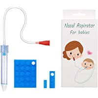 Baby Nasal Aspirator with 23 Hygiene Filters, Snot Sucker for Newborns to Toddlers, Mucus Aspirator for Baby, Non-Toxic Mucus Extractor, Cleanable and Reusable Nasal Congestion Relief for Infant