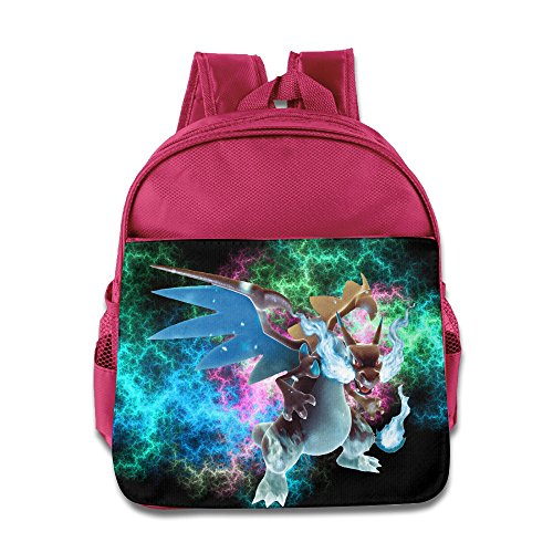 Logon 8 Poke Mega Charizard Cool Backpacks Pink For 3-6 Years Olds Baby]()