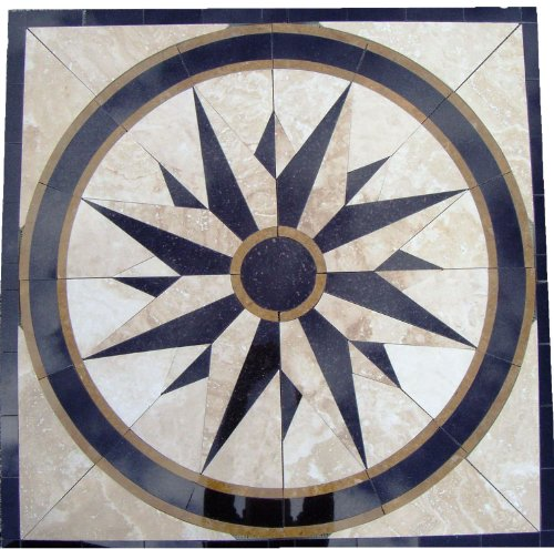 - Tile Floor Medallion Marble Mosaic North Star Design 30