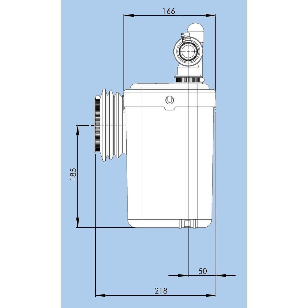 SFA Lomac Suverain 500-A F/äkalienhebeanlage WC Hebeanlage Hecksler Hebeanlagen