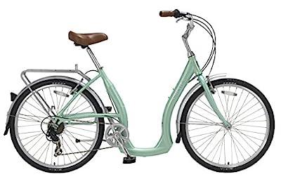Biria Easy Boarding 7 Speed Step Through Cruiser Bicycle 15.5'' Aqua Green