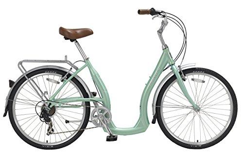 "Cheap Biria Easy Boarding 7 Speed Step Through Cruiser Bicycle 15.5"" Aqua Green"