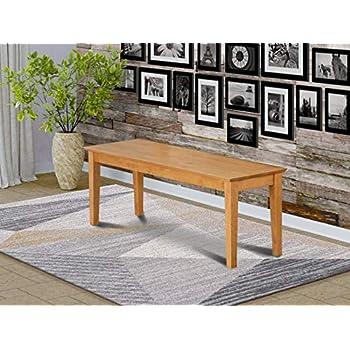 Amazon Com Boraam Shaker Bench Black Oak Table Benches