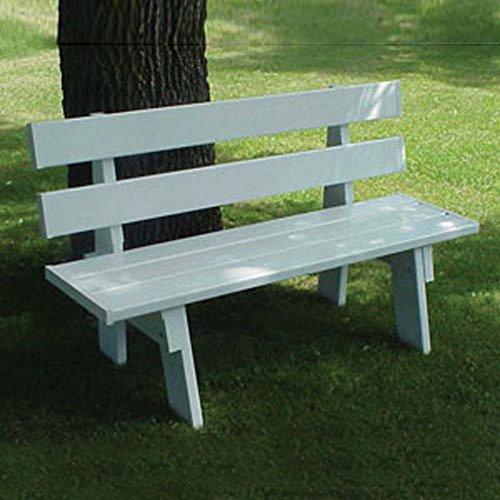 Vinyl Furniture Outdoor: 34' Laguna Vinyl Park Outdoor Bench In White