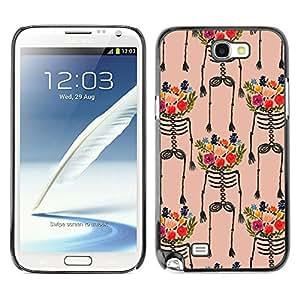 For SAMSUNG Galaxy Note 2 II / N7100 Case , Art Flowers Painting Colorful - Diseño Patrón Teléfono Caso Cubierta Case Bumper Duro Protección Case Cover Funda