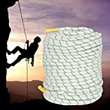 F2C General Purpose 2/5'' x 151' Caving Climbing Rope Double Braid Polyester Rope Safety Rope, Perfect for Tree Work, Cargo, Sailing, Rigging, Marine, Outdoor Sports, 5940Lbs Breaking Strength