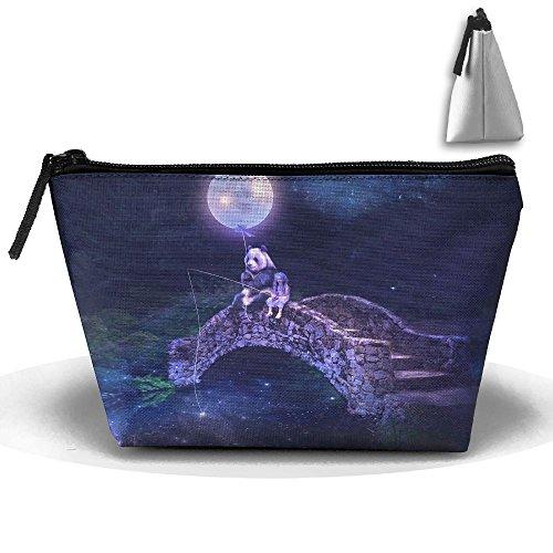 Travel Cosmetic Bags Bridge River Moon Small Makeup Bag Multifunction Pouch Cosmetic Handbag Toiletries Organizer Bag for Women -
