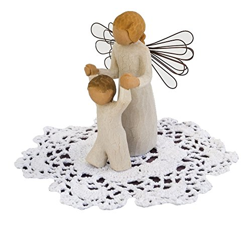 Willow Tree Angel Figurine with Doily (Guardian Angel) - Guardian Angel Light