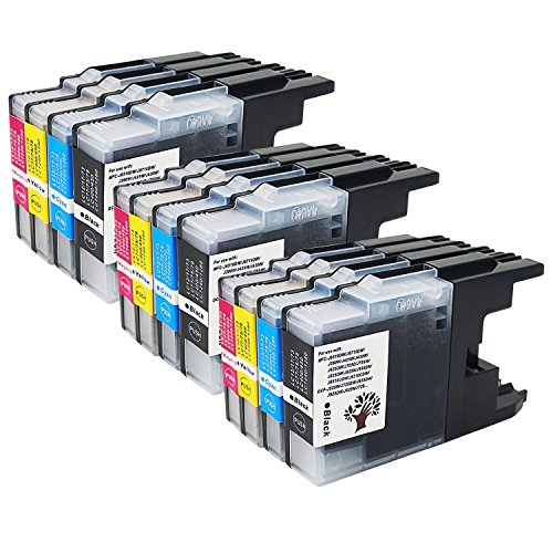 12 Yellow Toner (GREENSKY 12PK(3 Black 3 Cyan 3 Magenta 3 Yellow) compatible Brother LC71 LC75 LC79 Ink Cartridge for Brother MFC-J435W MFC-J430W MFC-J280W MFC-J6910DW J825DW J4300 MFC-J6710DW)