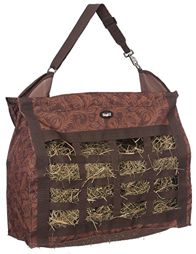 Tough 1 Heavy Denier Nylon Hay Tote Bag in Prints, Tooled Leather Brown