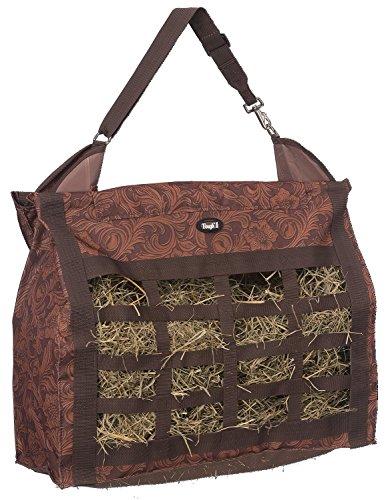 Tough 1 Heavy Denier Nylon Hay Tote Bag in Prints, Tooled Leather Brown (Tote Bag Denier Nylon)
