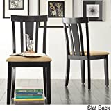 Inspire Q Wilmington Black Window Back 5-piece Dining Set by Classic Black Slat Back Chair