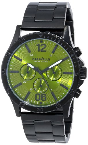 Caravelle New York Men's 45A107 Analog Display Japanese Quartz Black Watch